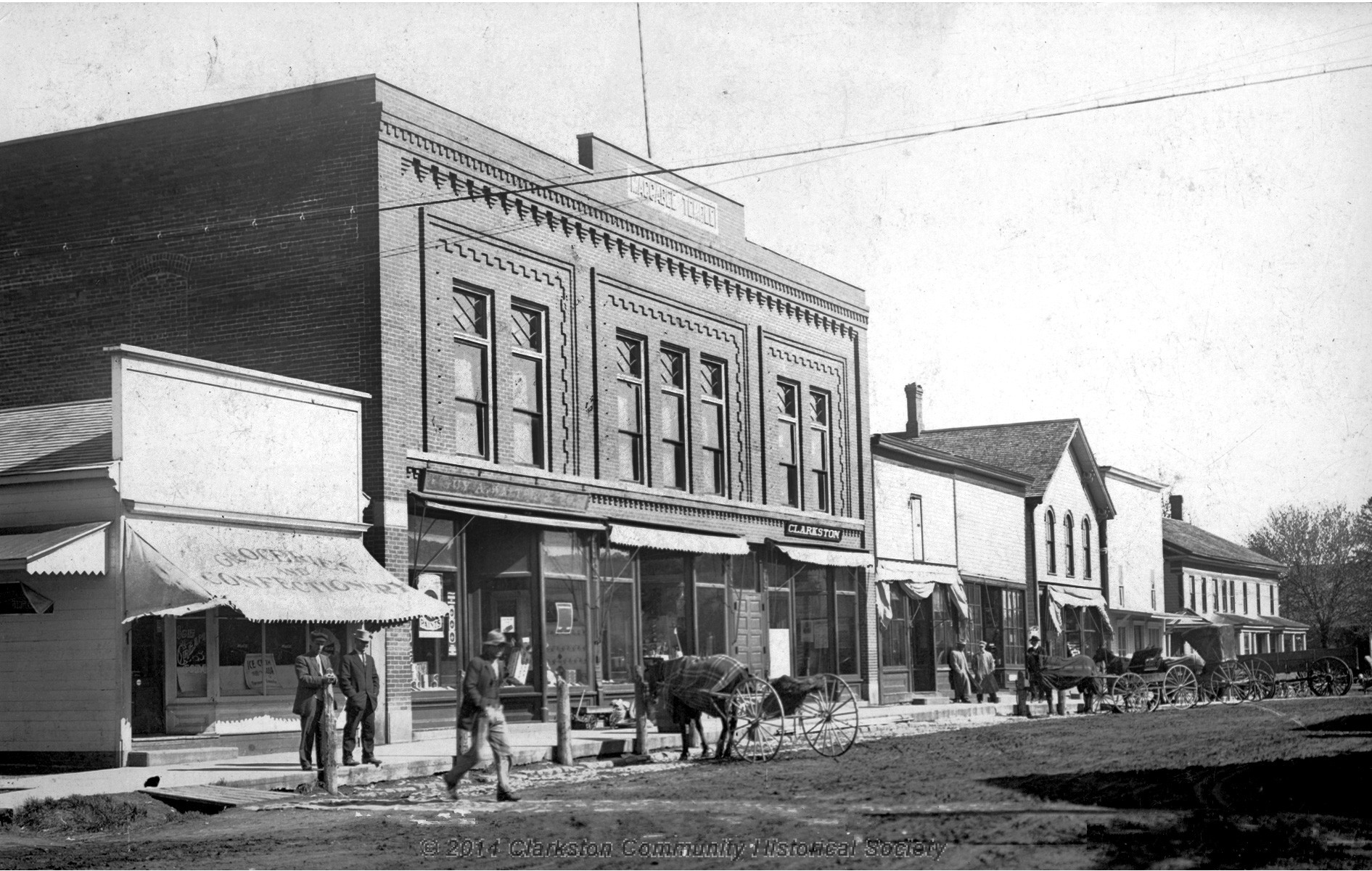 East Side of South Main Street, c. 1908