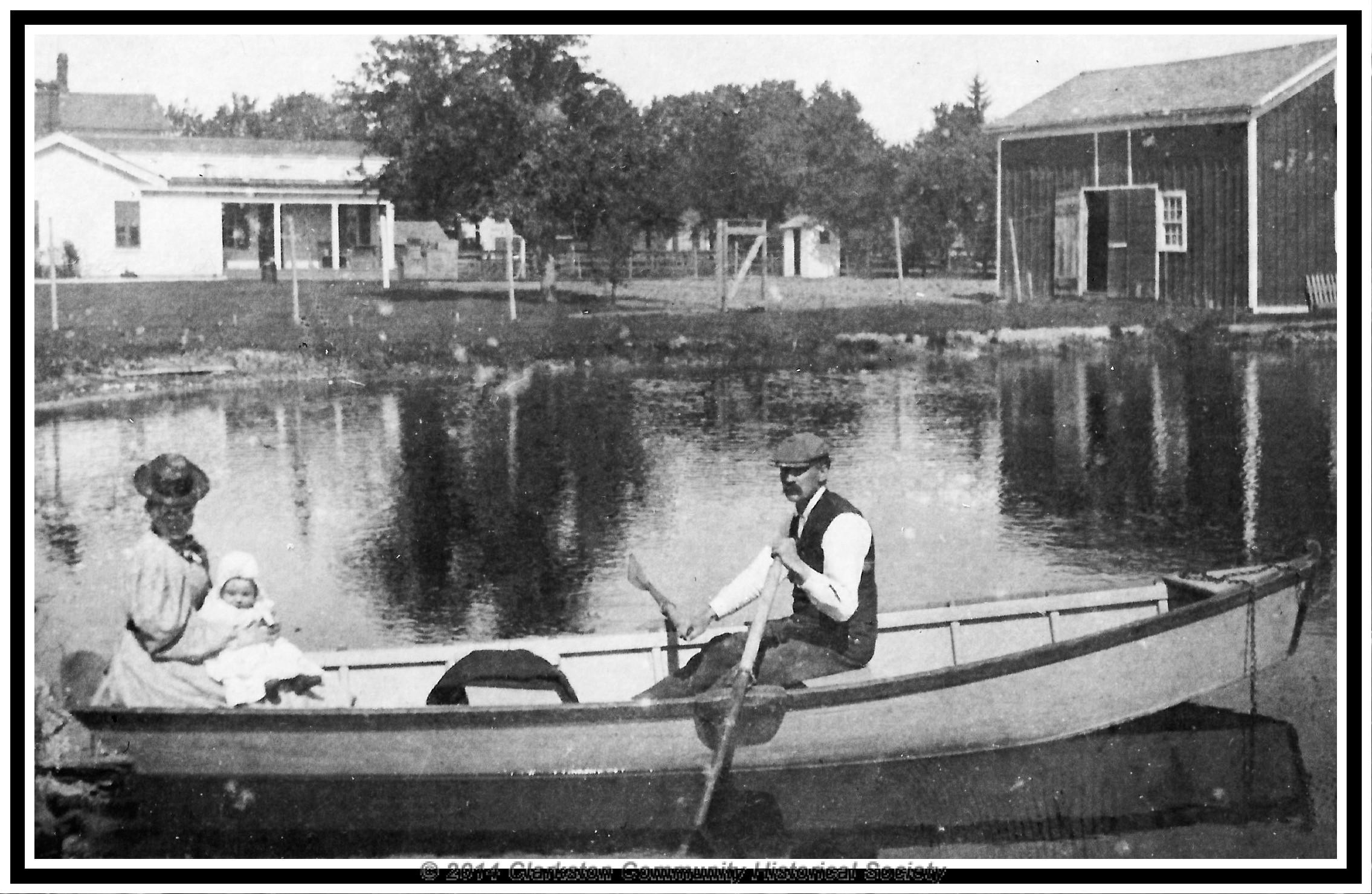 Clarkston Millpond, c. 1890