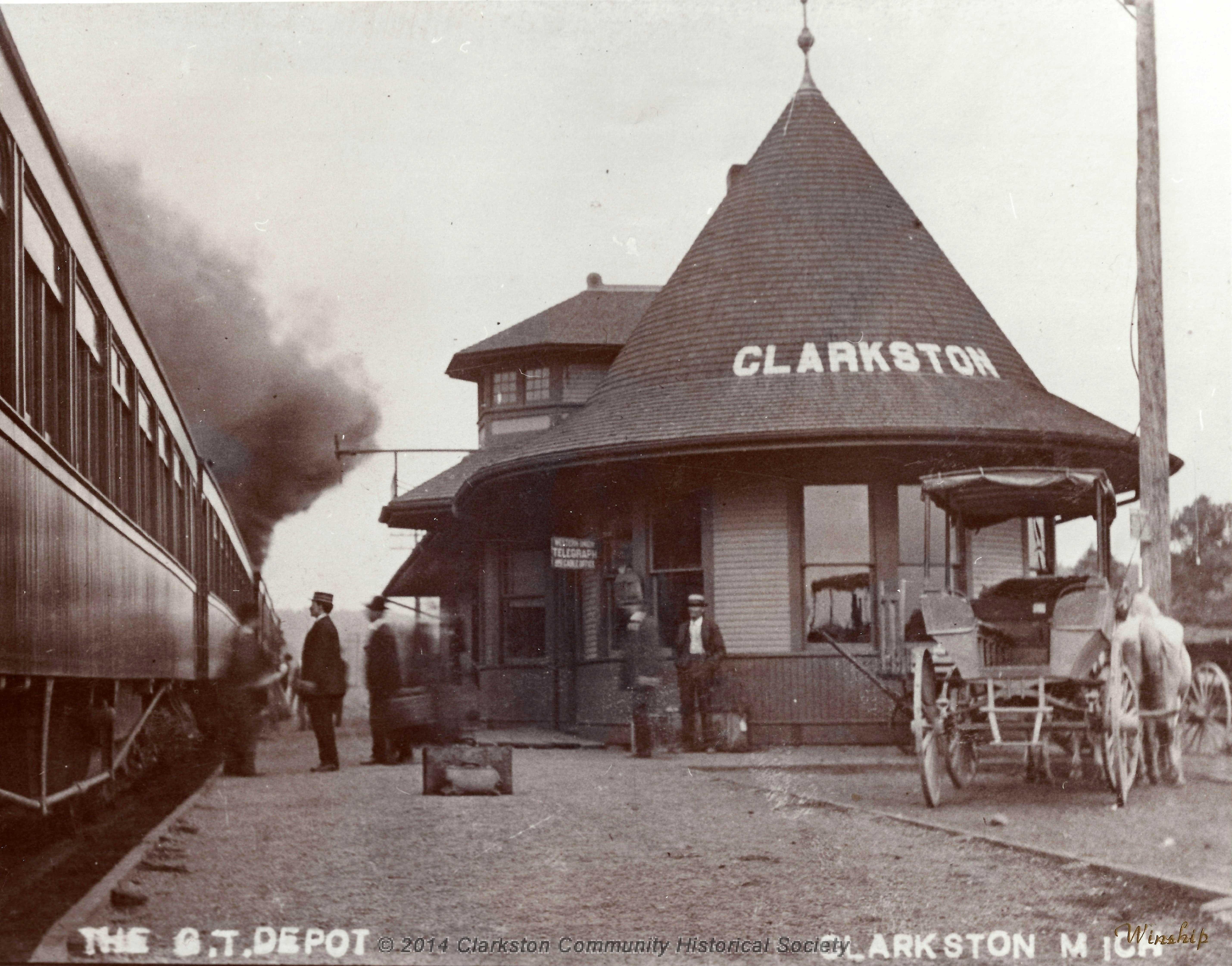 Clarkston Train Depot, c. 1900