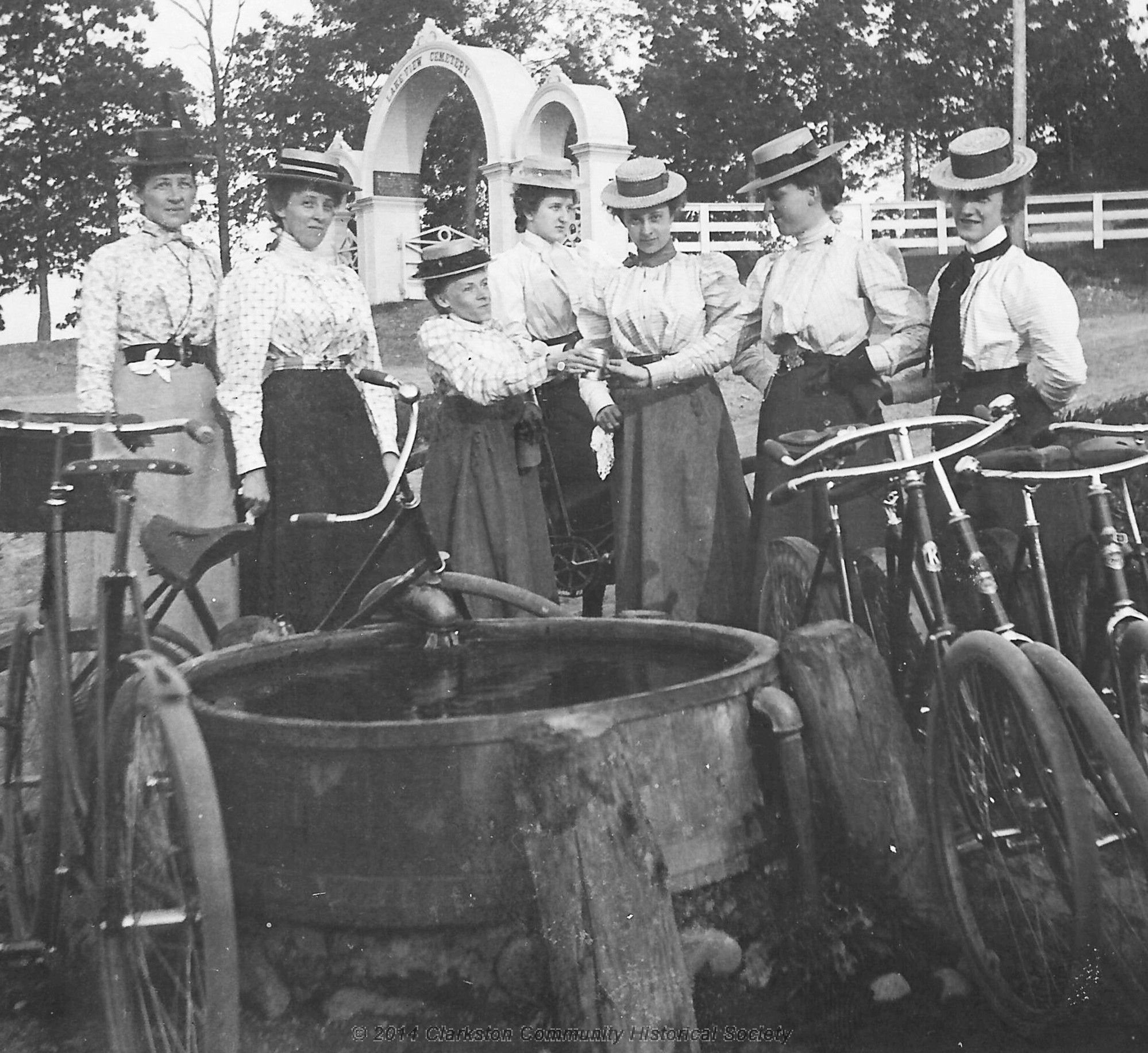 Ladies with Bicycles
