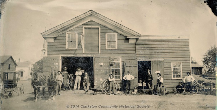 Blacksmith Shop, c. 1877 [historic slideshow]