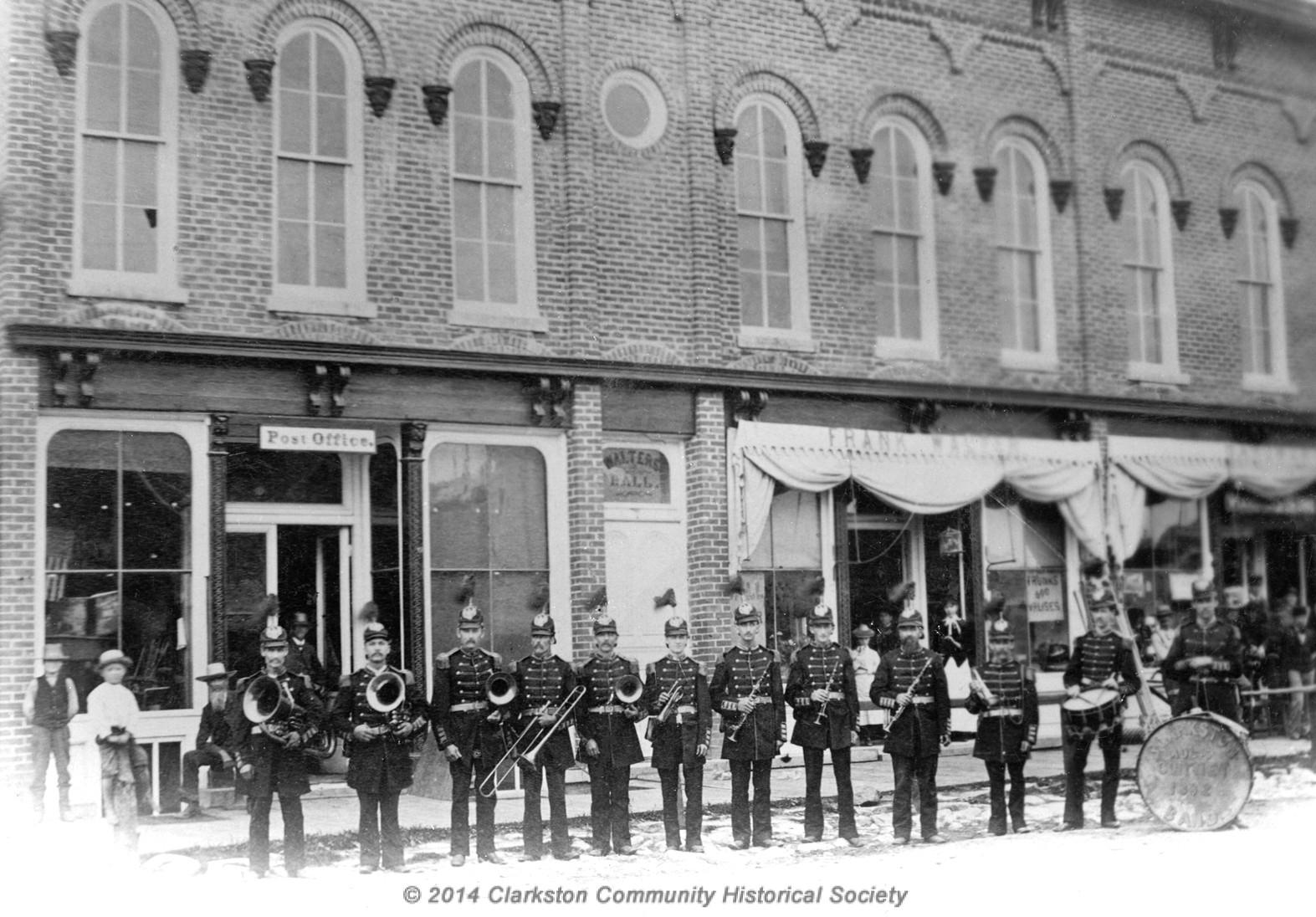 Clarkston Coronet Band, c. 1890