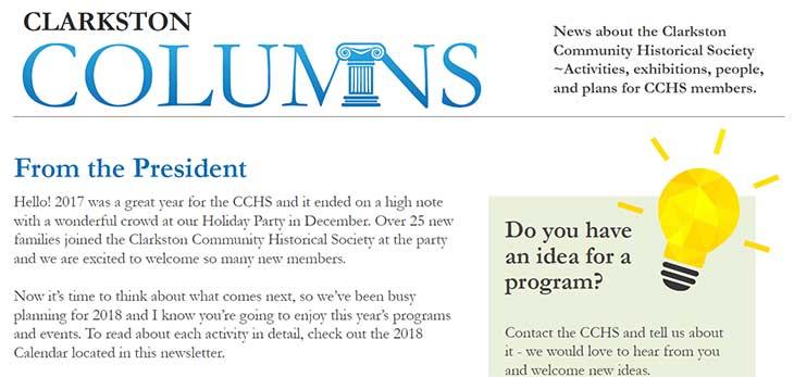 CCHS Newsletter Spring 2018