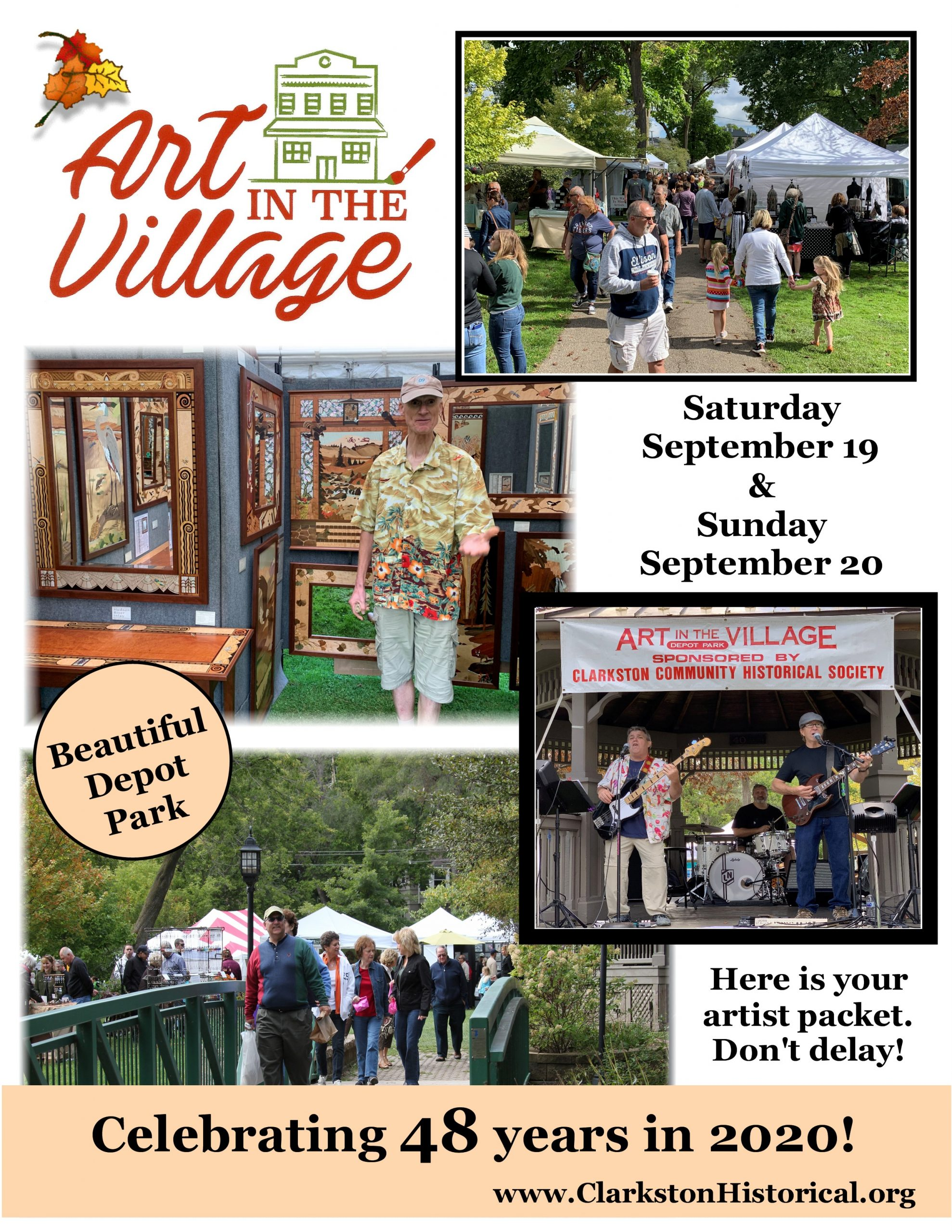 Art in the Village Poster