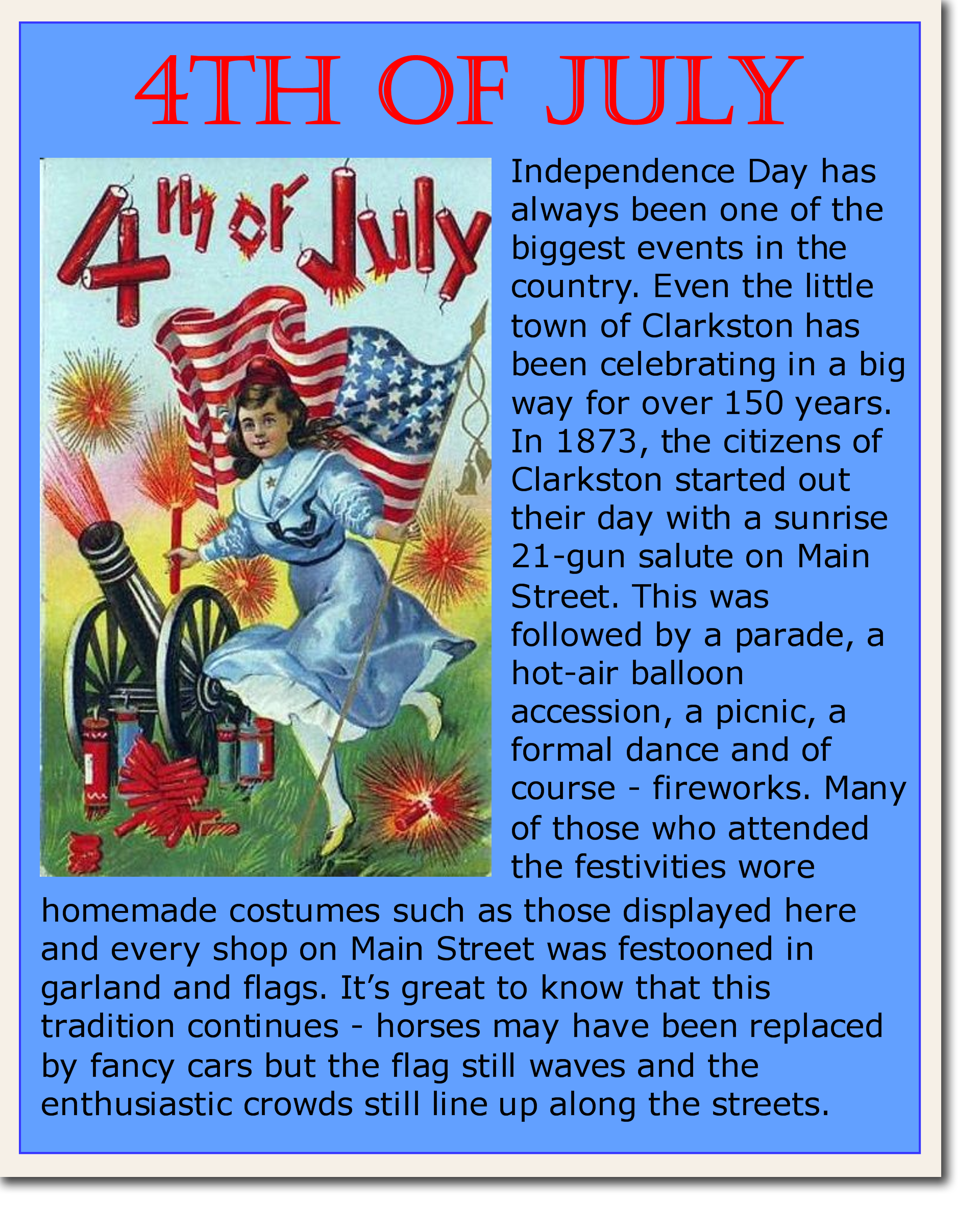 Clarkston 4th of July Poster